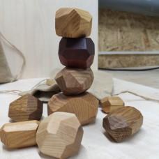 Настольная игра из дерева Туми Иши (Гора камней)10 шт.