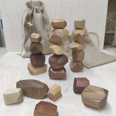 Настольная игра из дерева Туми Иши (Гора камней) 20 шт.